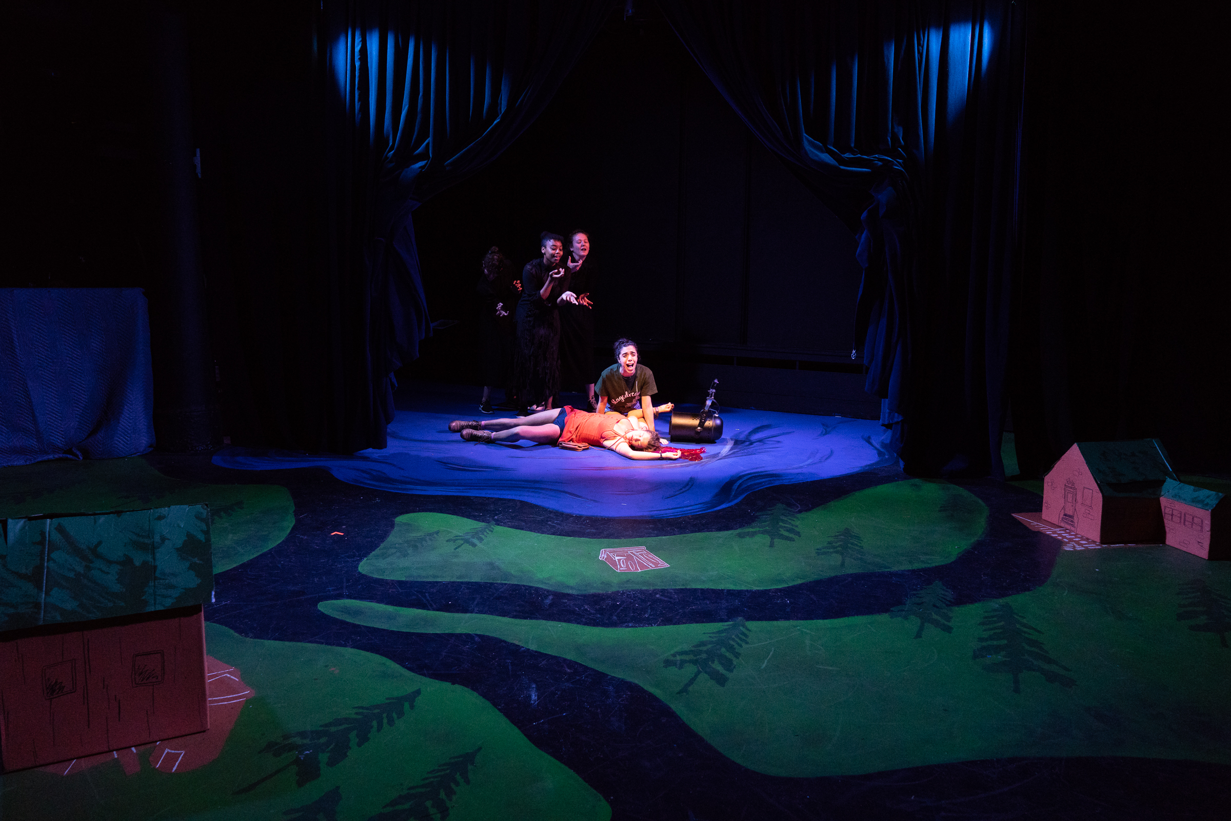 Stagedream   Playwrights Horizons Downtown, Fall 2018  Written by Jenny Rachel Weiner and Lee Overtree  Music by Helen Park  Lyrics by Max Vernon  Directed by Lee Overtree  Photo: Elke Young