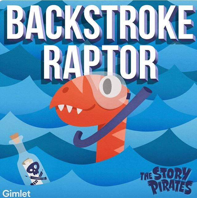 I can't believe there is a new @storypirates album out today!  #backstrokeraptor features 11 tunes adapted from kids stories, written by  certified geniuses @jackpmitchell, @itsellenwinter, @alanschmuckler, @fosterthanaspeedingbullet, @rachelwenitsky, @jtotheesh, @ericgersen, @mattrogerstho, @magicelflord and #brendanogrady! Produced by Brendan O'Grady, @bairaudio, @jackpmitchell and @ericgersen. Mixed by @bairaudio, recorded at @the_relic_room and mastered by #gregcalbi at @sterlingsound. Cover art by @camillastrator and @marshmallowfever. Featuring #linmanuelmiranda! We are so lucky to work with so many talented people. Thank you to everyone who made this album happen, especially the genius kids whose stories inspired these songs!