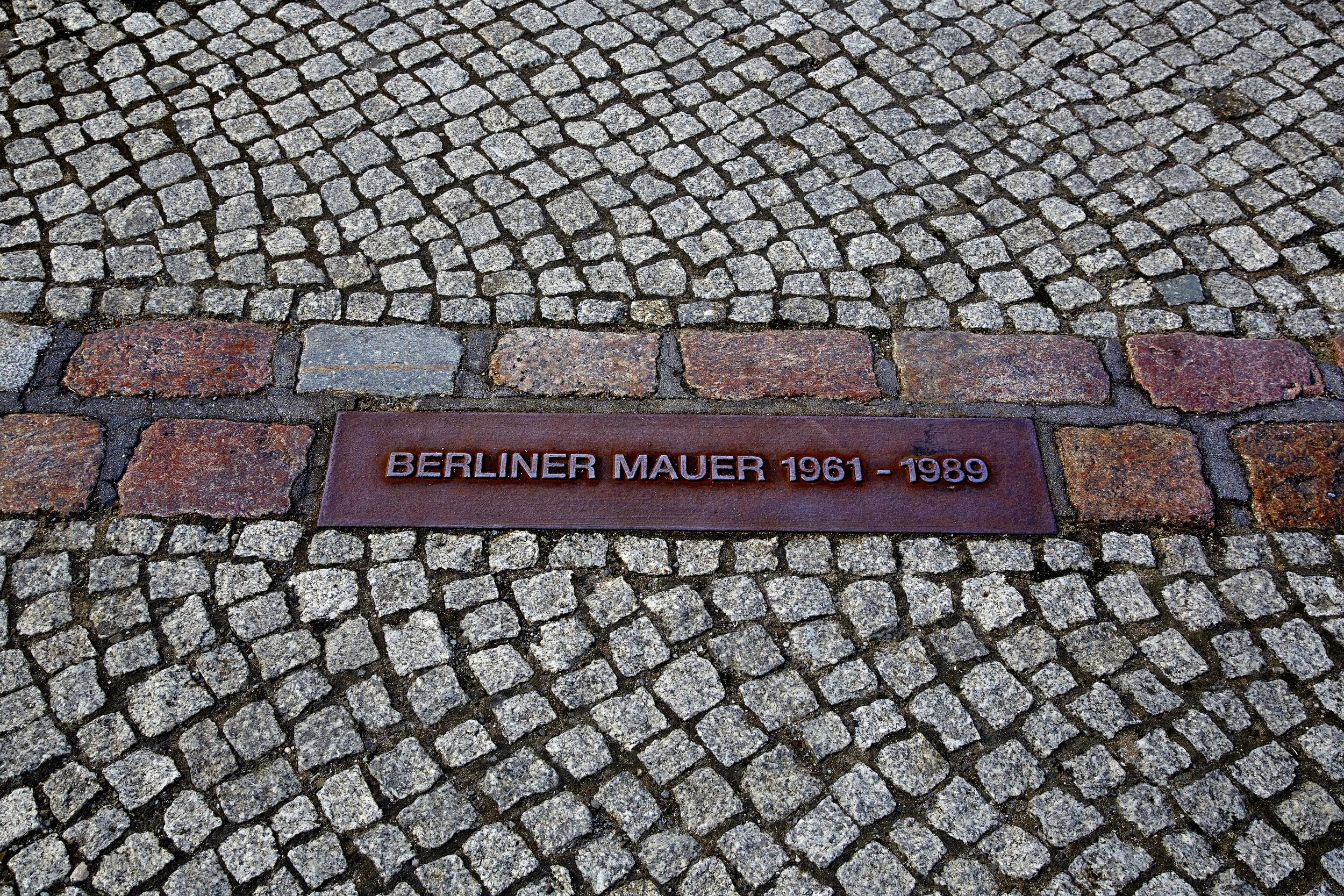 Berlin Wall Footprint Germany
