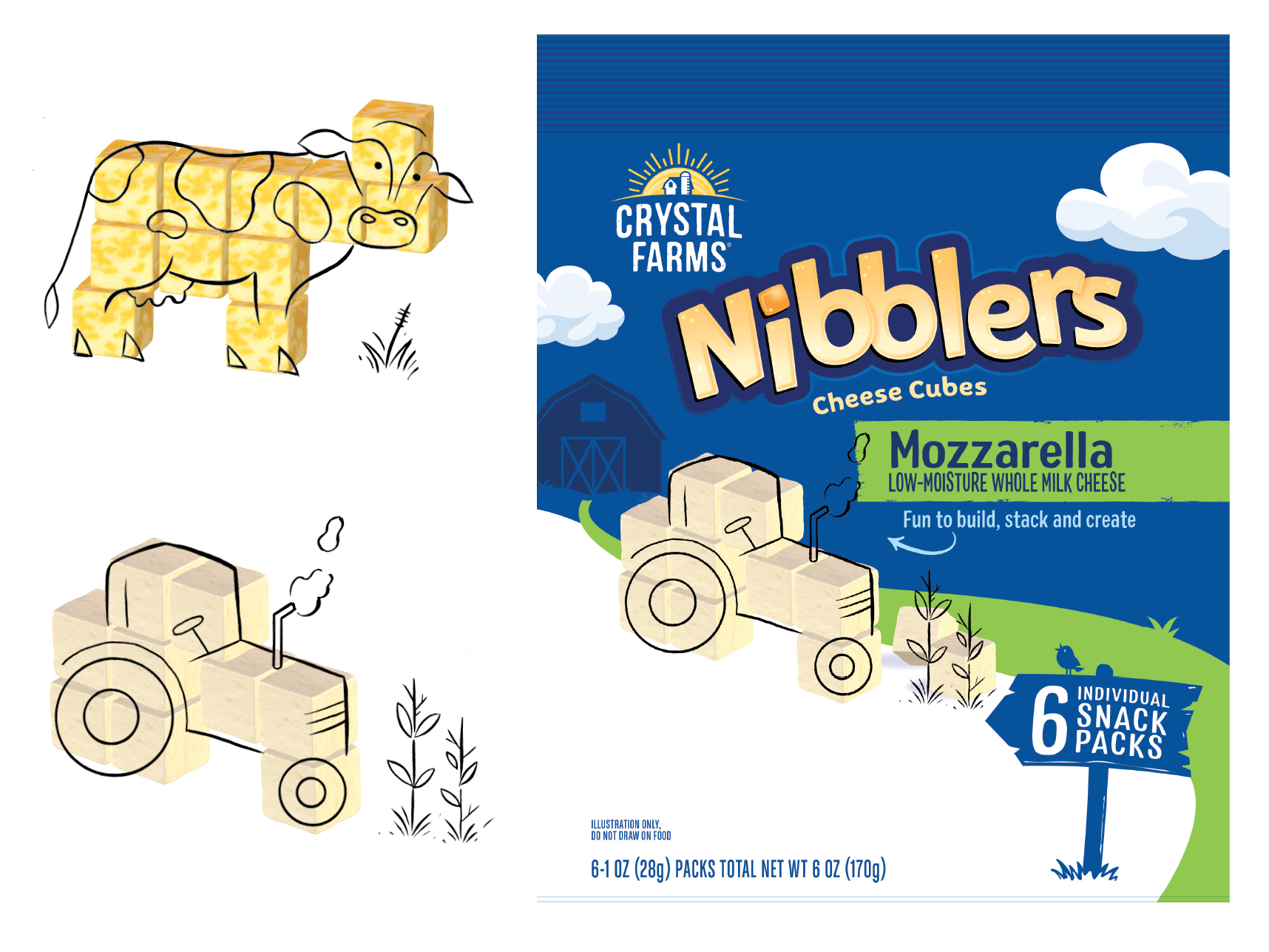 Cow & Tractor Illustrations
