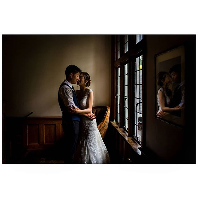 And later in the afternoon, when the rain started up, we took a few minutes to do some quick portraits inside. Congrats again you two 💕 . . . . #vancouverweddingphotographer #bcweddingphotographer #documentaryweddingphotographer #heyheyhellomay #huffpostido #junebugweddings #photobugcommunity  @brockhouserestaurant