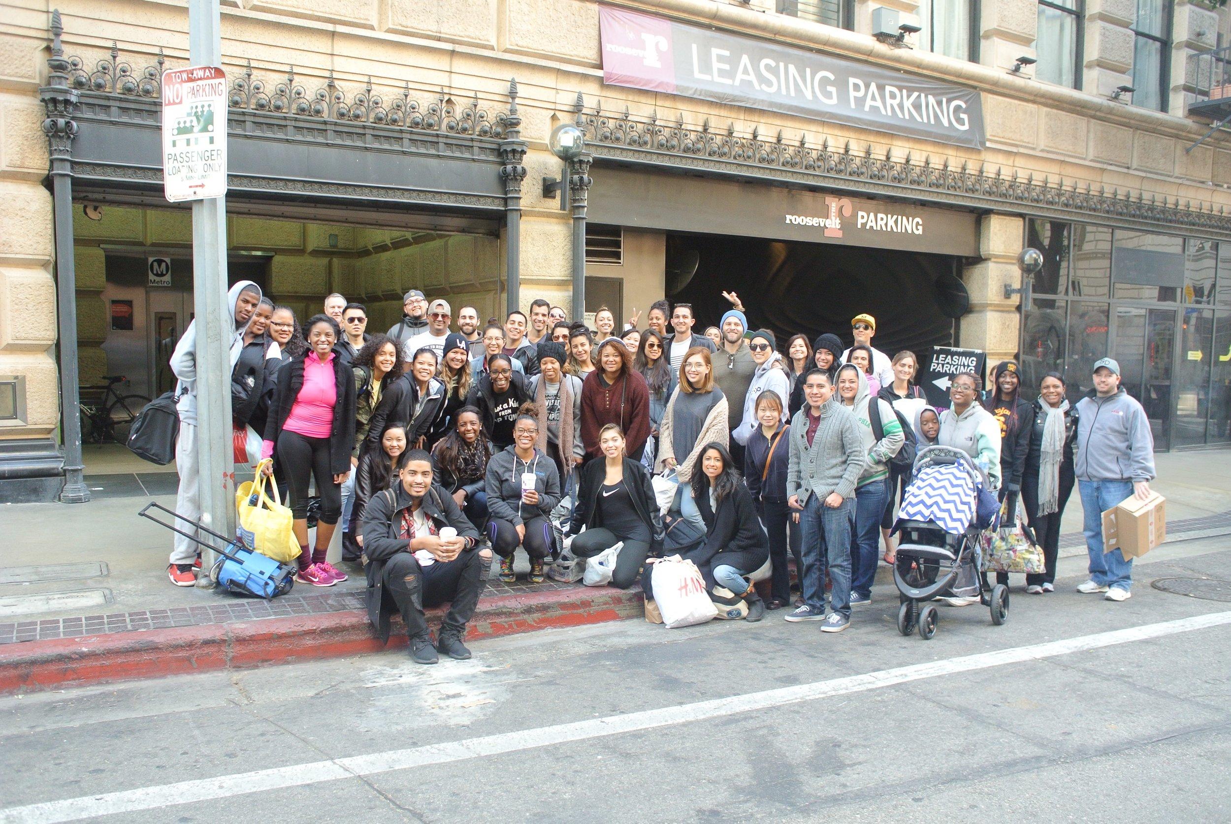 Socks4Souls Donation Drive Skid Row Los Angeles, CA 2015