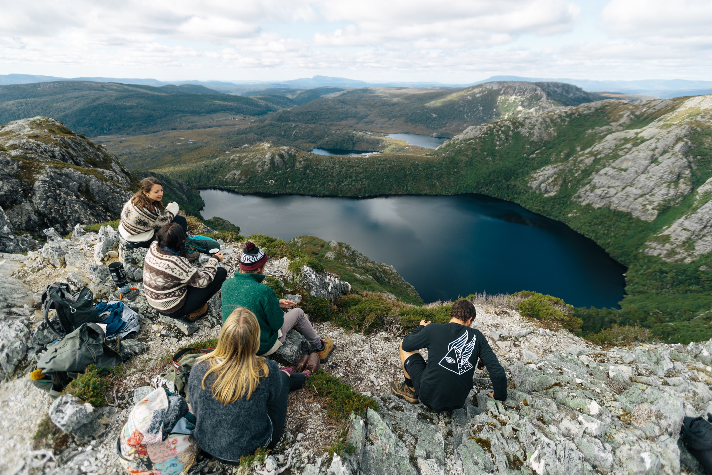 On the Mountain Huts Film Trail at Cradle Mountain Film Festival. Photo Jacob Collings