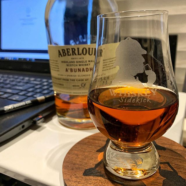 Getting back in the saddle is alway hard... . But I'll tell ya @aberlour A'bunadh sure gives me the boost to keep grinding after a hard days work. . What bottle do you grab when you just need that extra 🥊? . . . #boosted #highproof #mynightlife #whisky #abunadh #scotchneat #glencairnglass #laptopwork #admintuesday #batch58 #backinthesaddle #whiskeysidekick #sherrybomb #slainte #cheers #whiskey #almostempty #instawhisky #🥃 #drink #nightcap