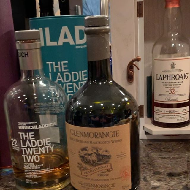 Scotchy, scotch & more scotch... .  Which 3 would you snag from last night's amazing 🥃 selection 😮? .  Ardbeg Kelpie  Ardbeg Grooves  Ardbeg Drum  BenRiach 16yr  Bruichladdich The Laddie 22yr  Bruichladdich Black Art 1990  Highland Park The Dark 17yr  Lagavulin Distillers Edition 2016  Lagavulin Game of Thrones 9yr  Laphroaig 32yr  Laphroaig PX Cask  Linkwood 25yr  The Arran Malt Amarone Cask Finish