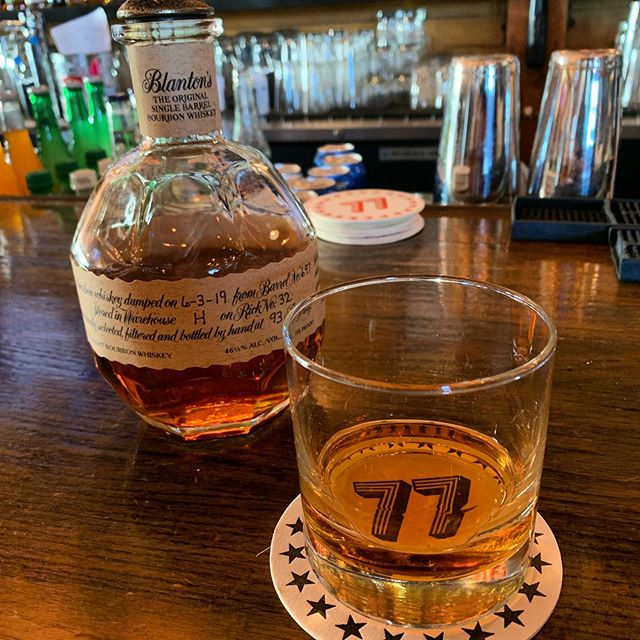 Blanton's never disappoints... Even if you have to pay through the 👃 for it 🤑. . Would you bite the bullet at $18 for a 2oz pour? . . . #barbourbon #whiskey #bourbon #spiritof77 #wortheverypenny #blantons #pdx #blantonssinglebarrel #greatwhiskey #pubcrawl #goodcompany #pdxwhiskey #pdx #portlandbars #bestbarspdx #cheers #bourbonrocks #buffalotrace #wishihadmoremoney #whiskeymakesmepoor #instagood #instawhiskey #whiskeygram #bartop #whiskeybottles