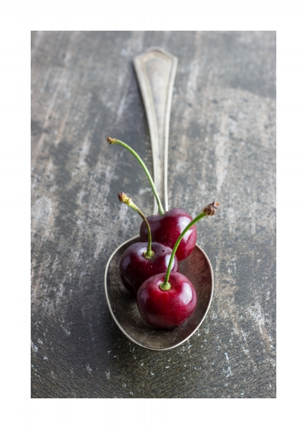 Spoon With Cherries - Joan Marie Photography