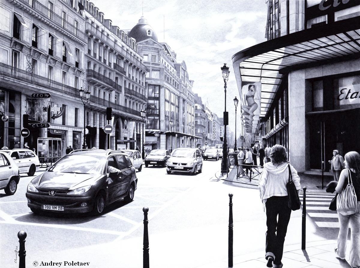 PoletaevArt-BallpointPen-ParisianStreet.jpg