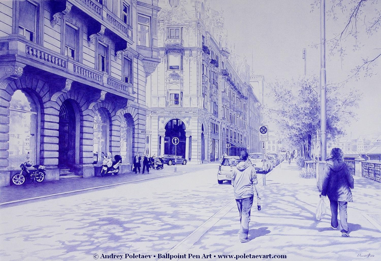 PoletaevArt-BallpointPen-Magnificent Streets.jpg