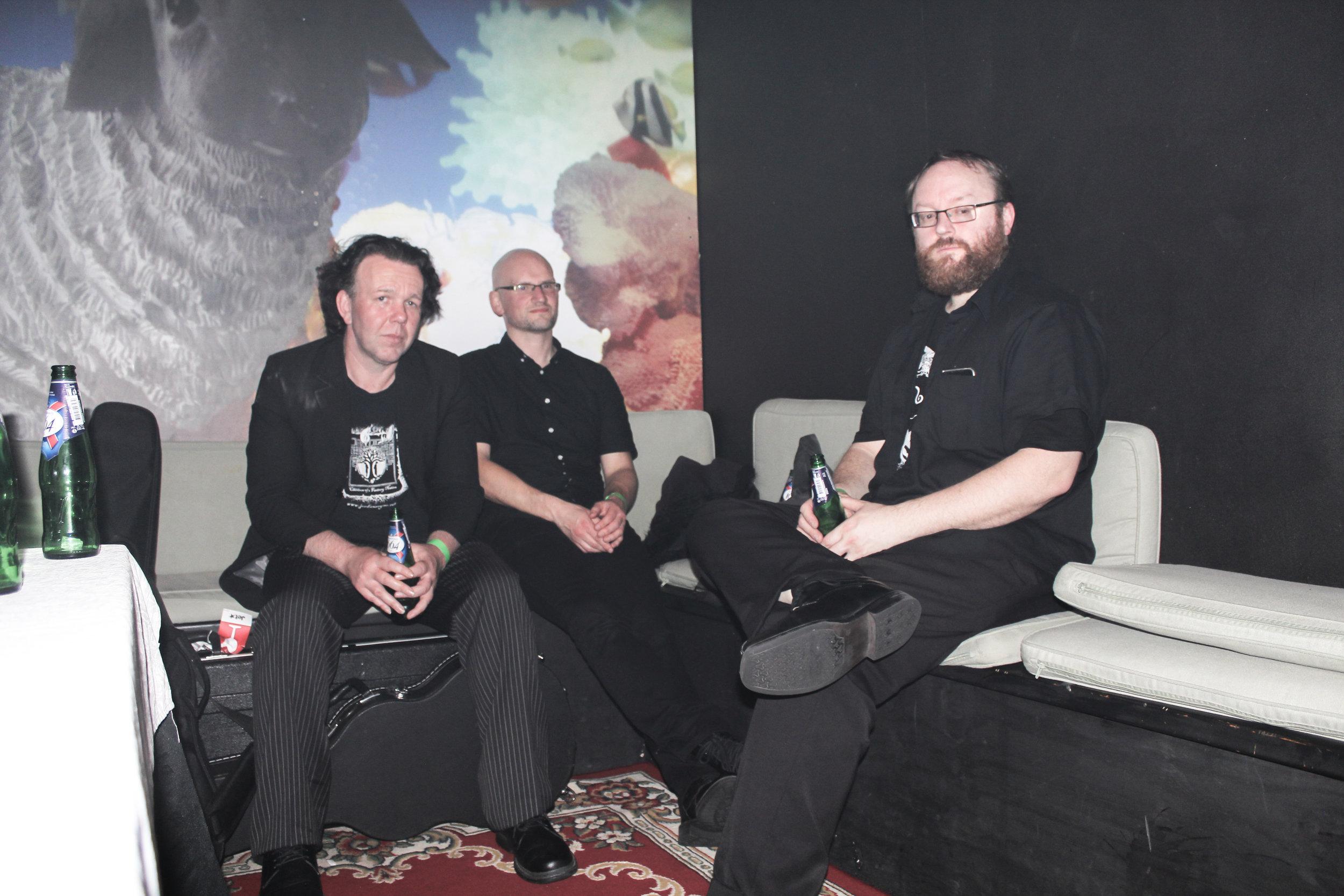Backstage, post-show, Powerstation, Auckland, 19 November 2016. Photo by  Warren Jones .