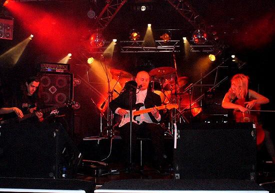 Serenna at the Hell Bound Ball,  The Studio , Auckland, 29 October 2005 (L-R):Vivian Stewart, Kane Davey, Jane Pierard (unseen: Jared Carson). Photo: Shaleen Chandra,  Club Bizarre .