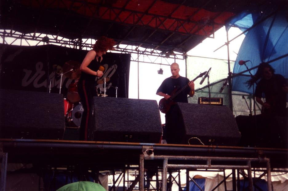 Bloodflower live at Mountain Rock Festival, January 1996.