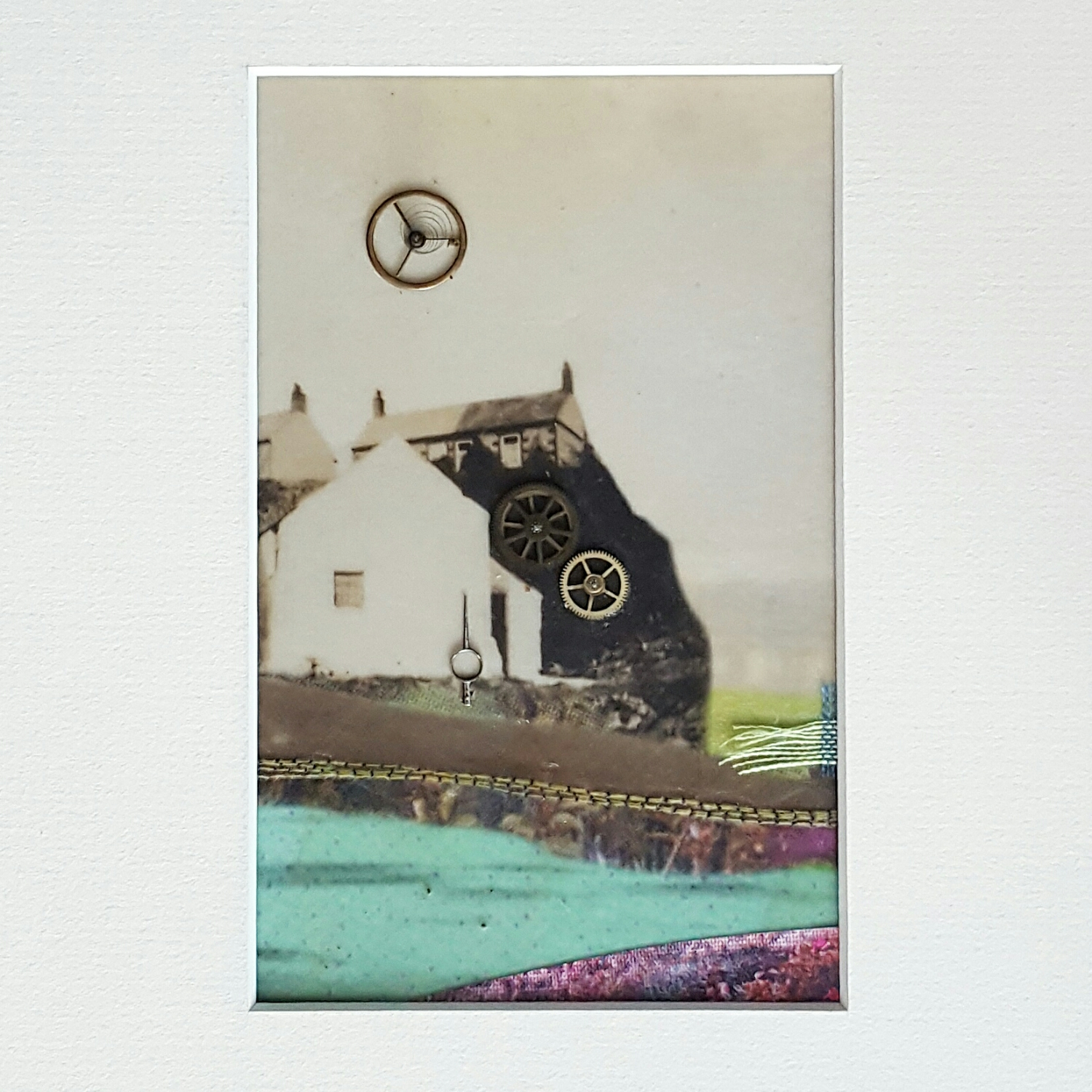 A Stitch in Time ~ Analogue and Digital Collage