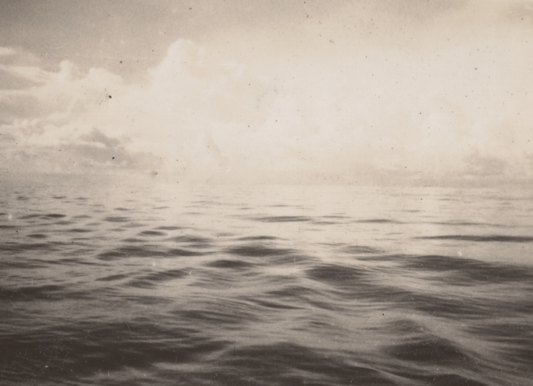 An empty sea... circa 1930