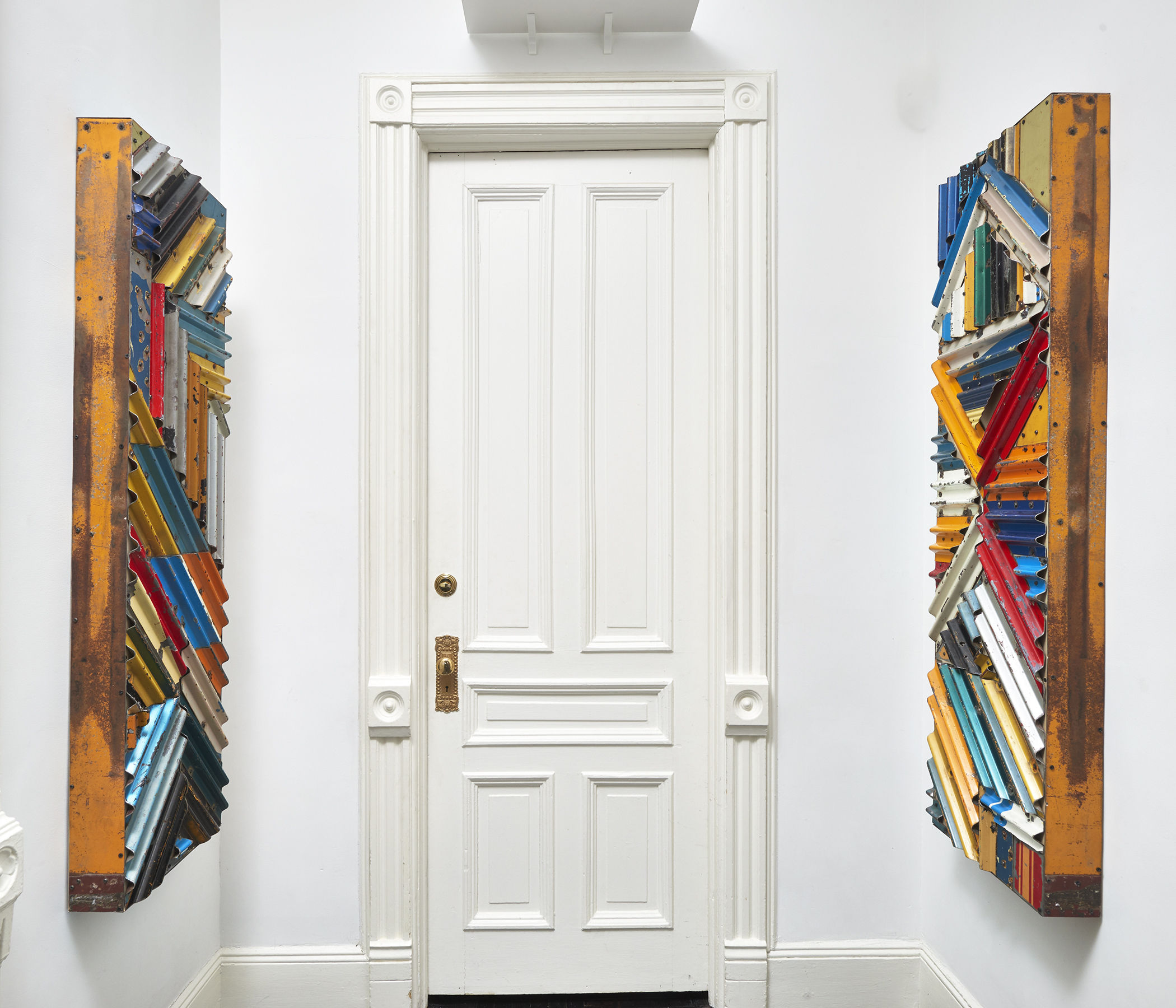 """View of """"Displacements & Reconstructions"""" at Henrique Faria Fine Art, New York City.  Photo credit: Arturo Sánchez"""