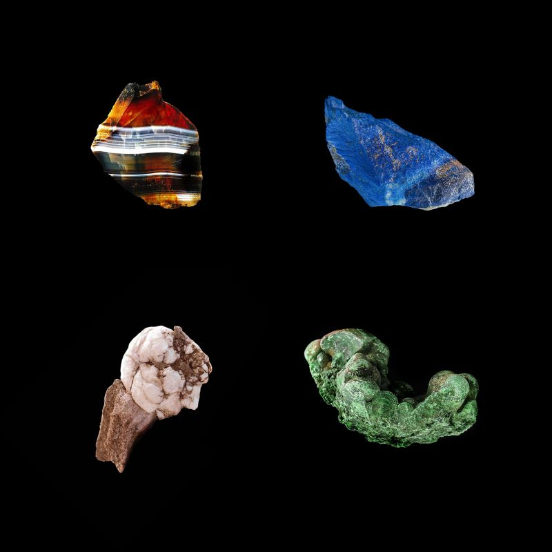 Stone specimen sourced across the globe.