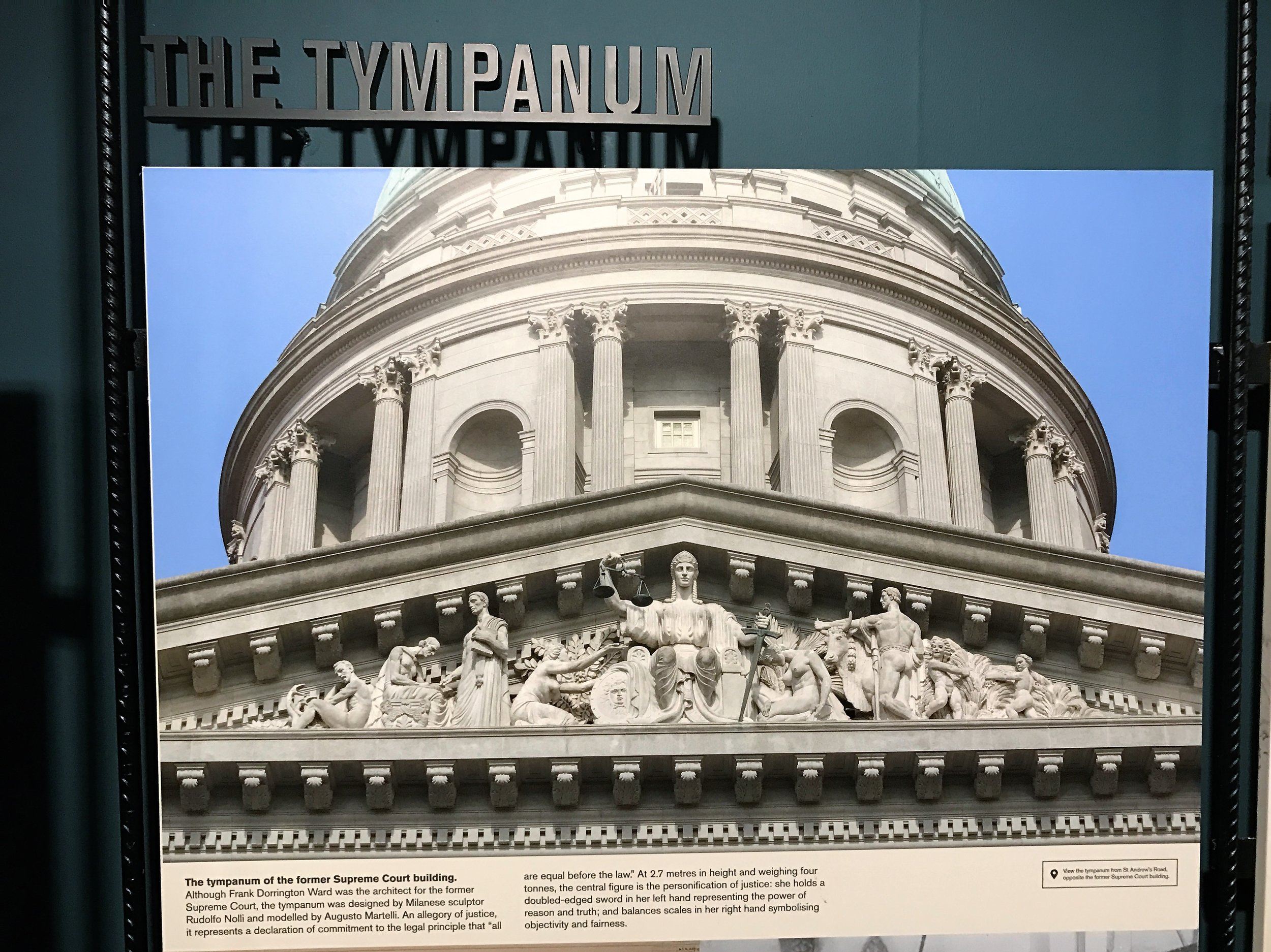The Tympanum at National Gallery Singapore