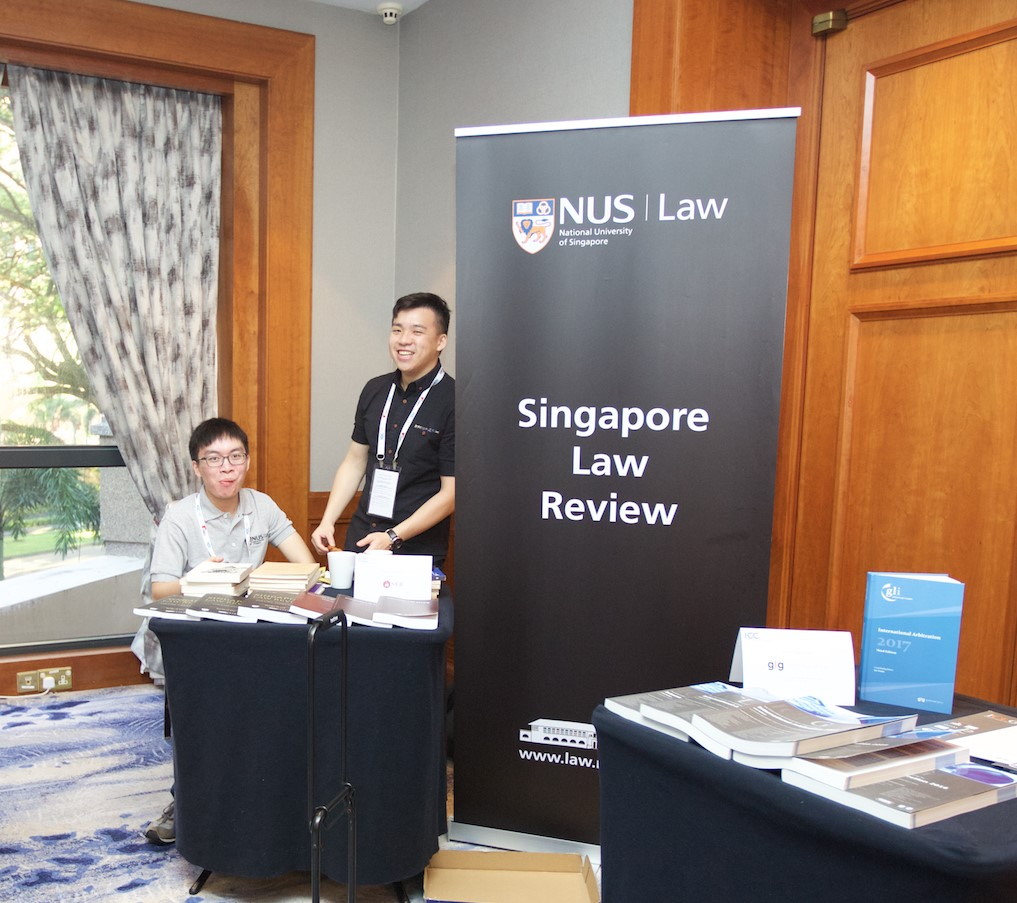 Our SLR Editors, Fabian Terh and Fabian Chiang, at their conference booth.