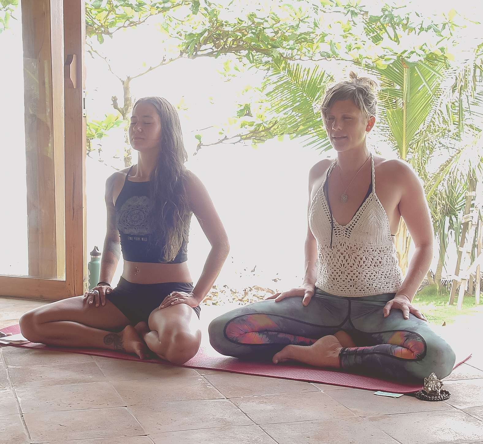 Leading a grounding meditation. Photo: Exhale Yoga Retreats.