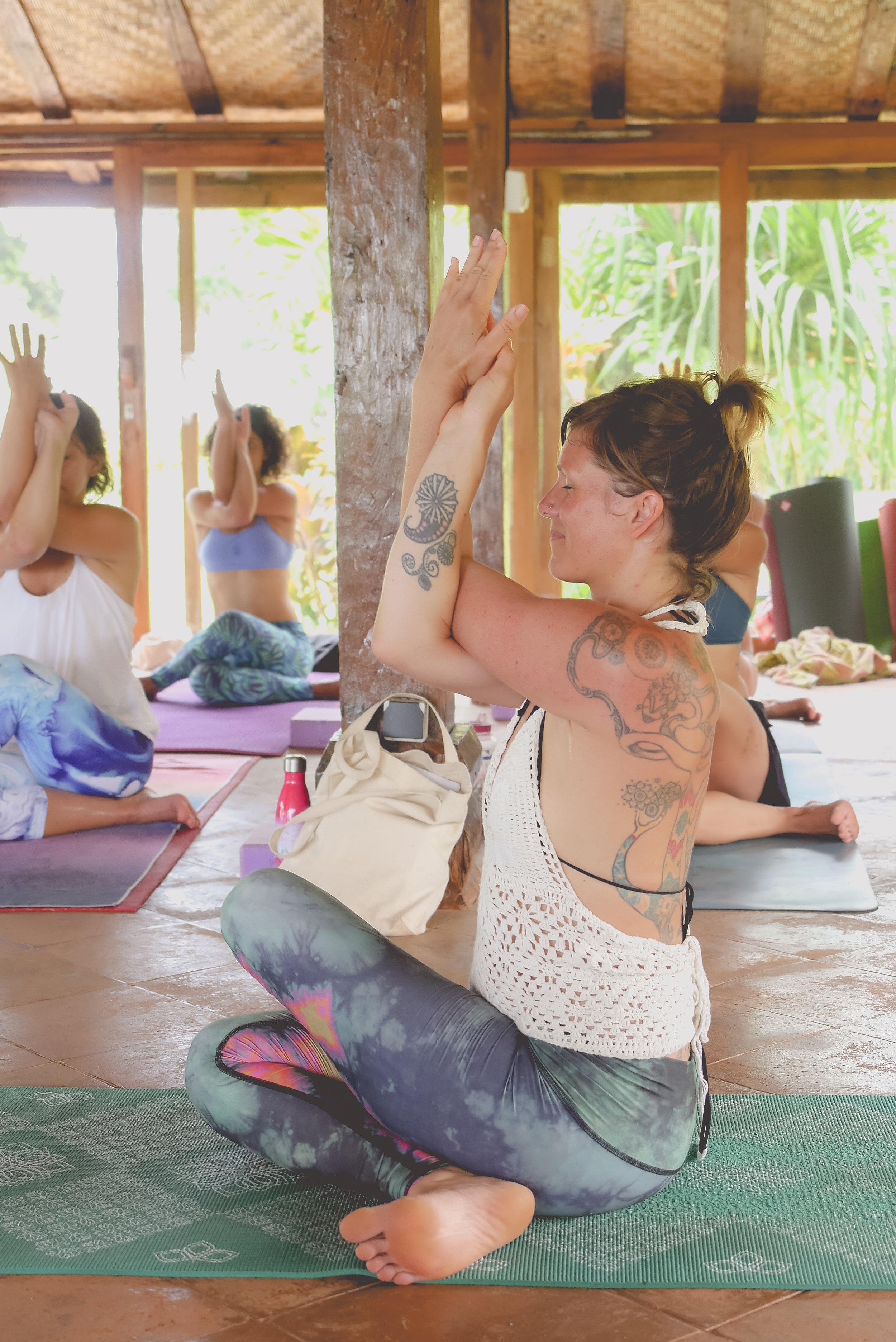 Demo time. Photo:Exhale Yoga Retreats.
