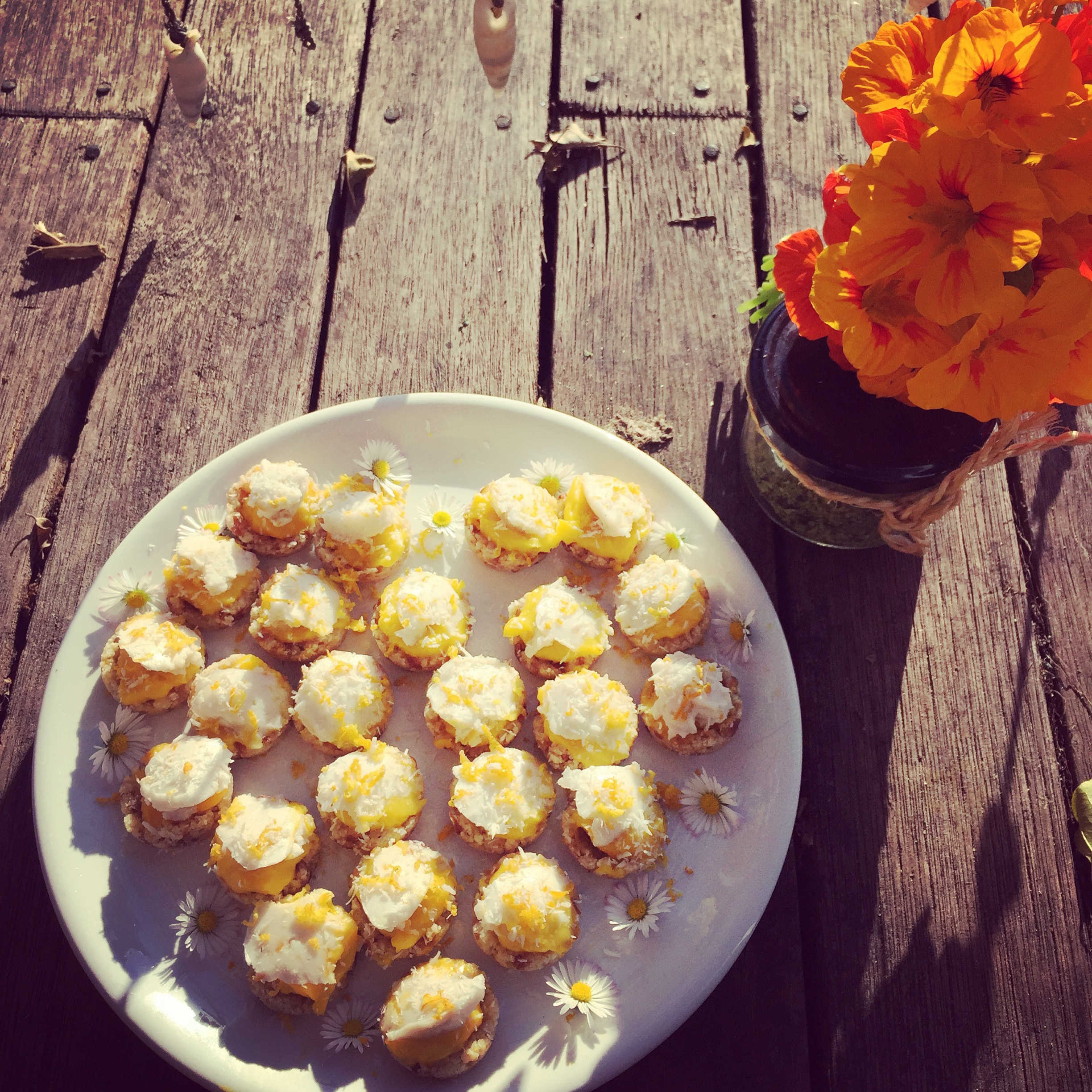 Mini Lime and Coconut Pies