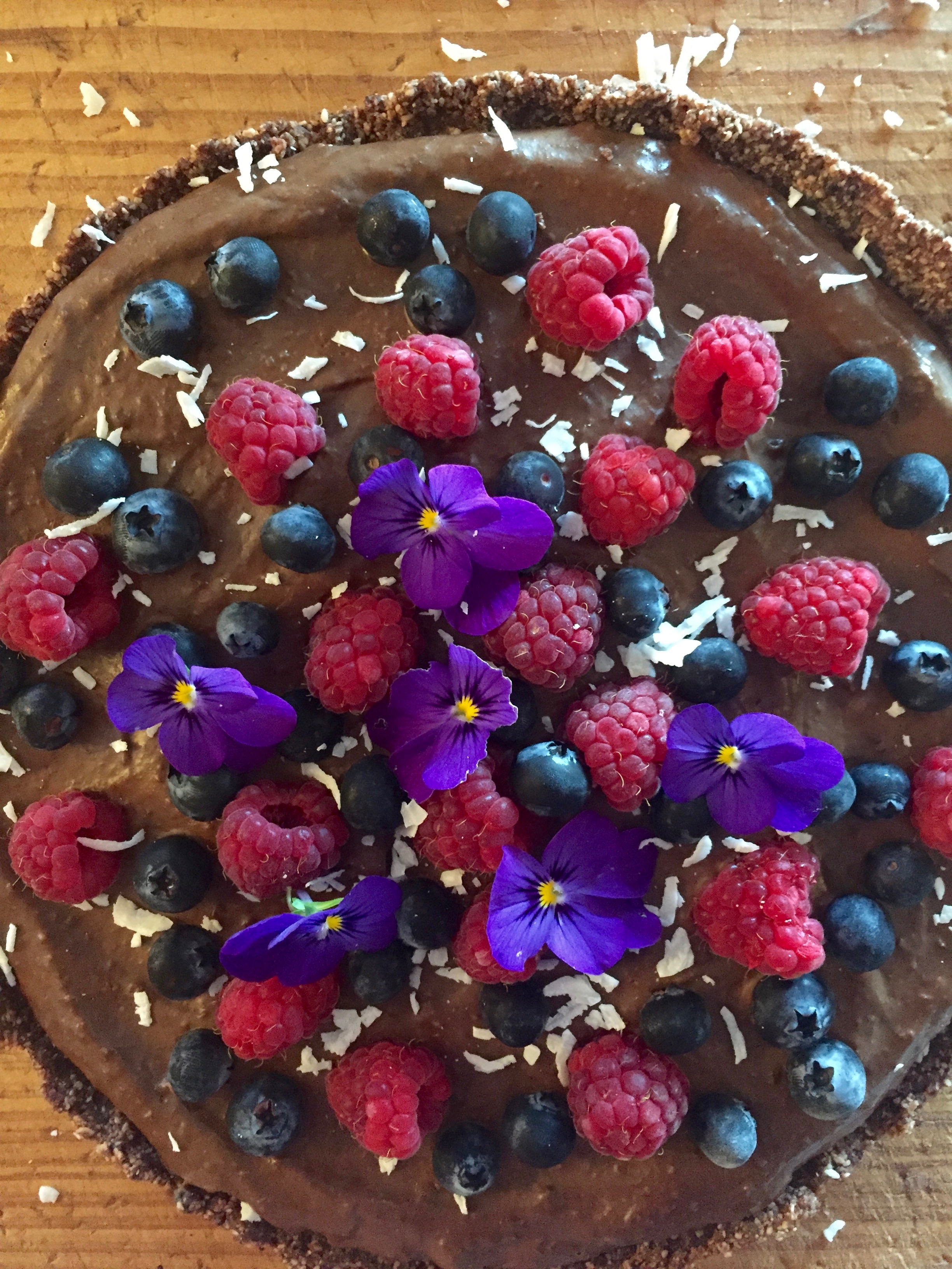 Christmas Eve Chai Spiced Chocolate Ganache Tart