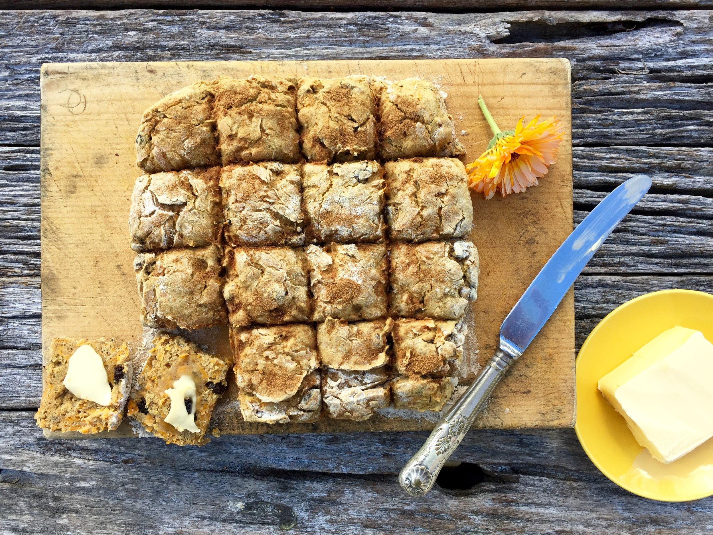 Pumpkin and Buckwheat Scones with Cinnamon and Raisins