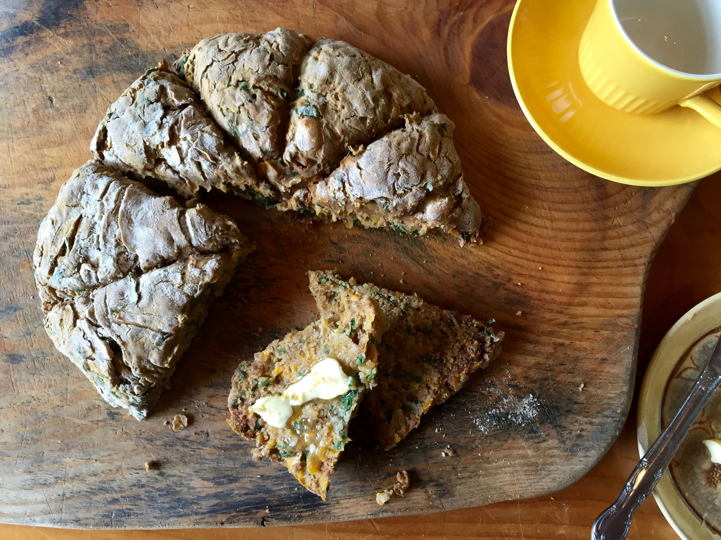 Pumpkin and Paneer Buckwheat Scones