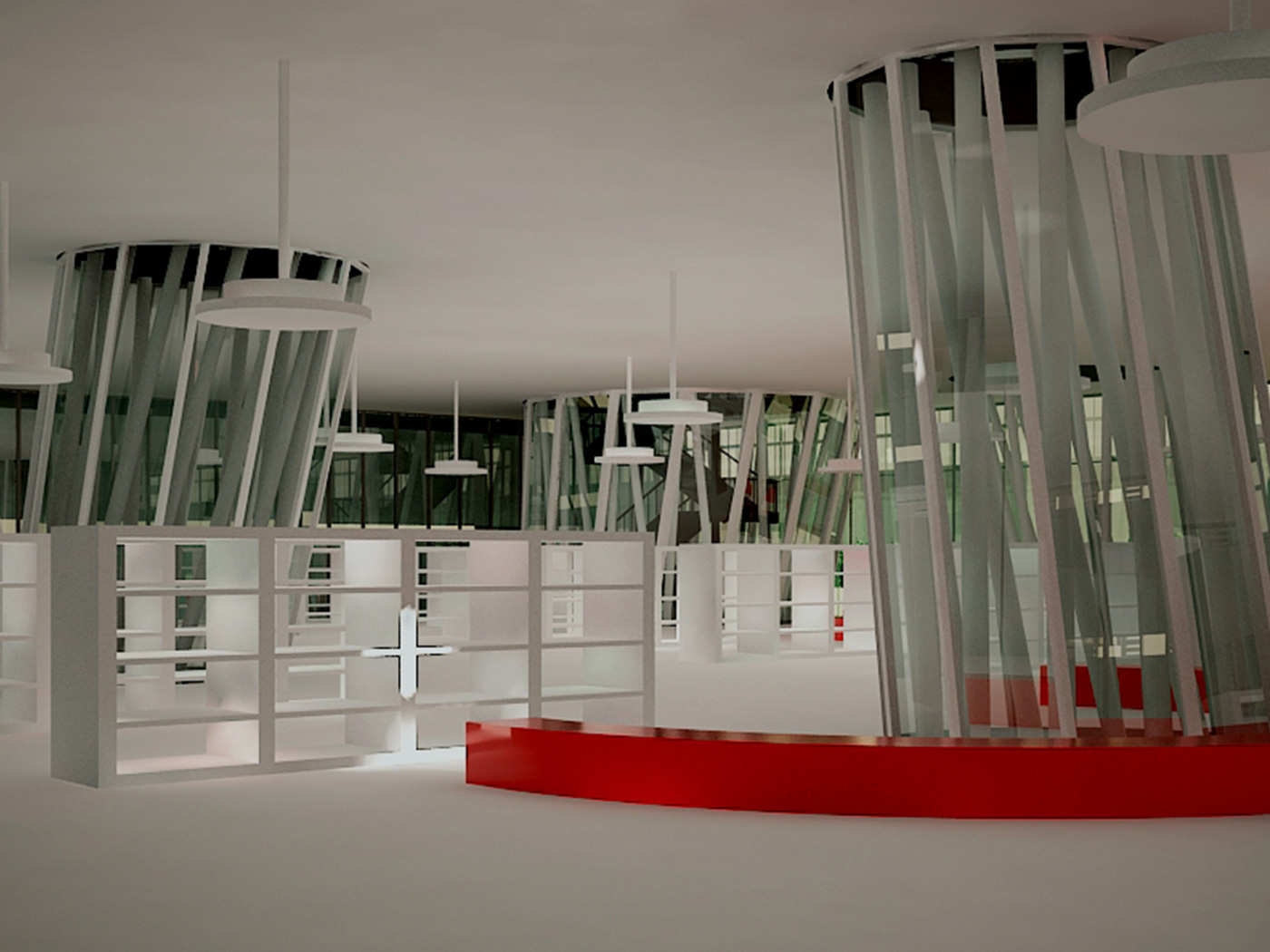 Sendai Mediateque by Toyo Ito, 3D model & rendering by Chiara Mensa