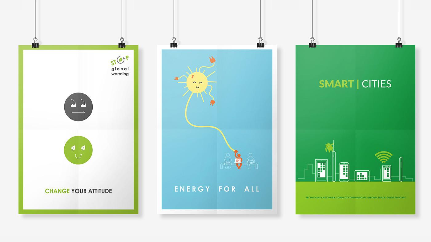 Sustainability poster designs by Chiara mensa