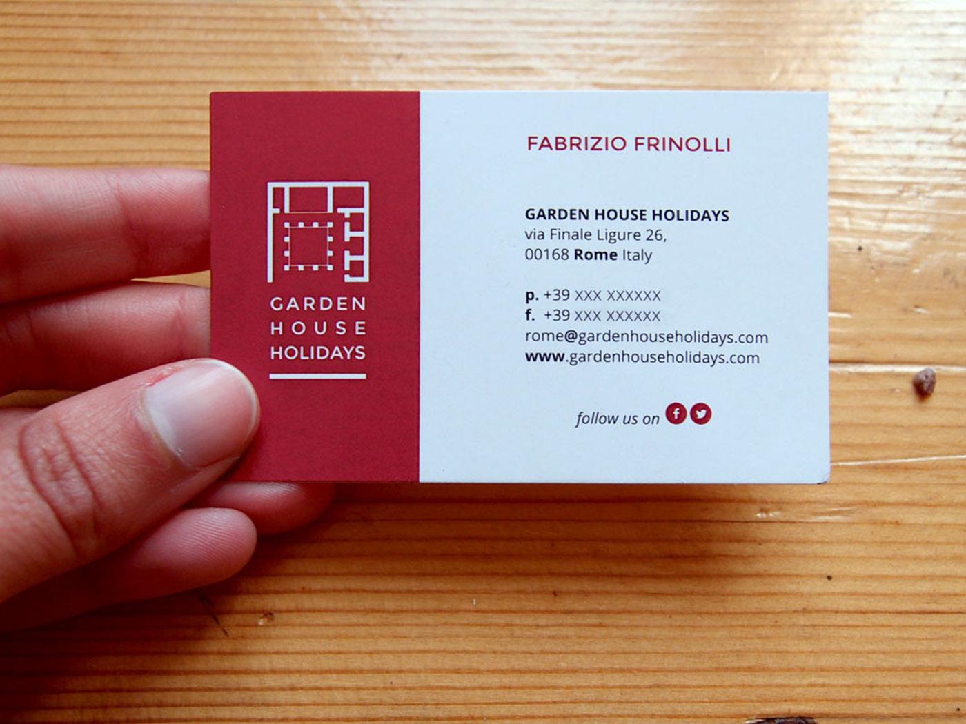 Business card, by Chiara Mensa