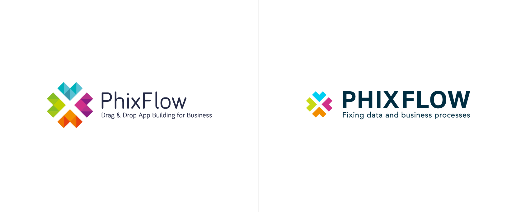 PhixFlow brand refinement before and after, by Chiara Mensa