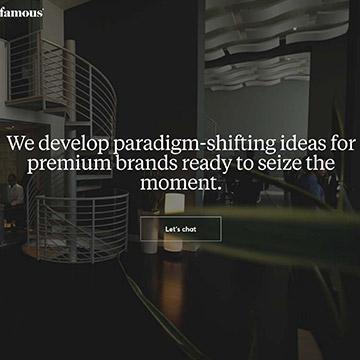 Famous.co digital agency website