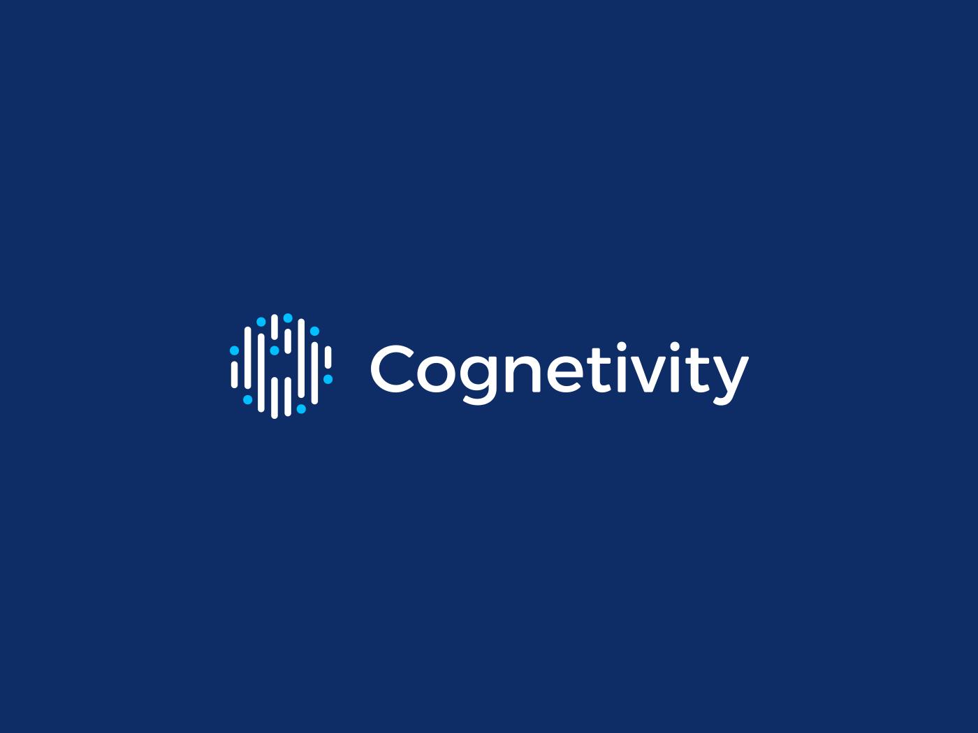 Cognetivity secondary logo, colour reversed