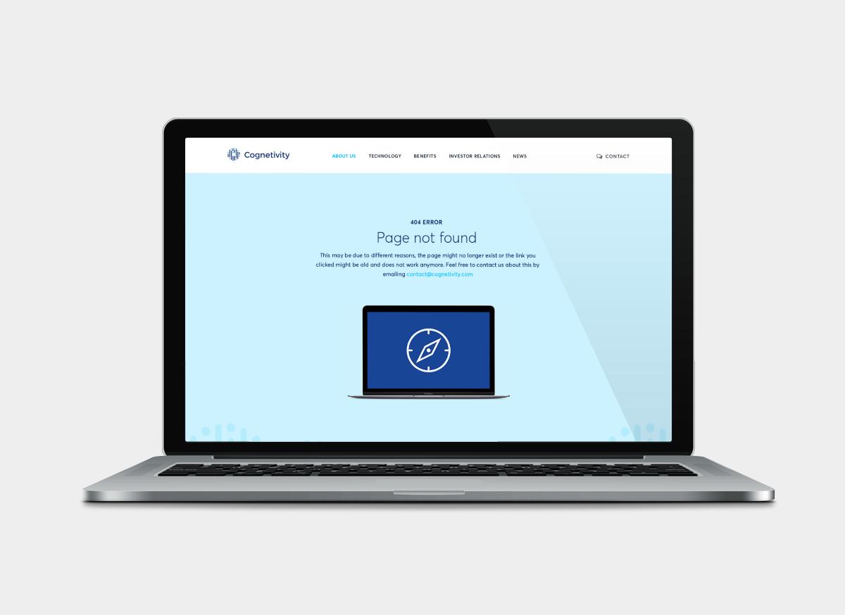 Cognetivity 404 page design