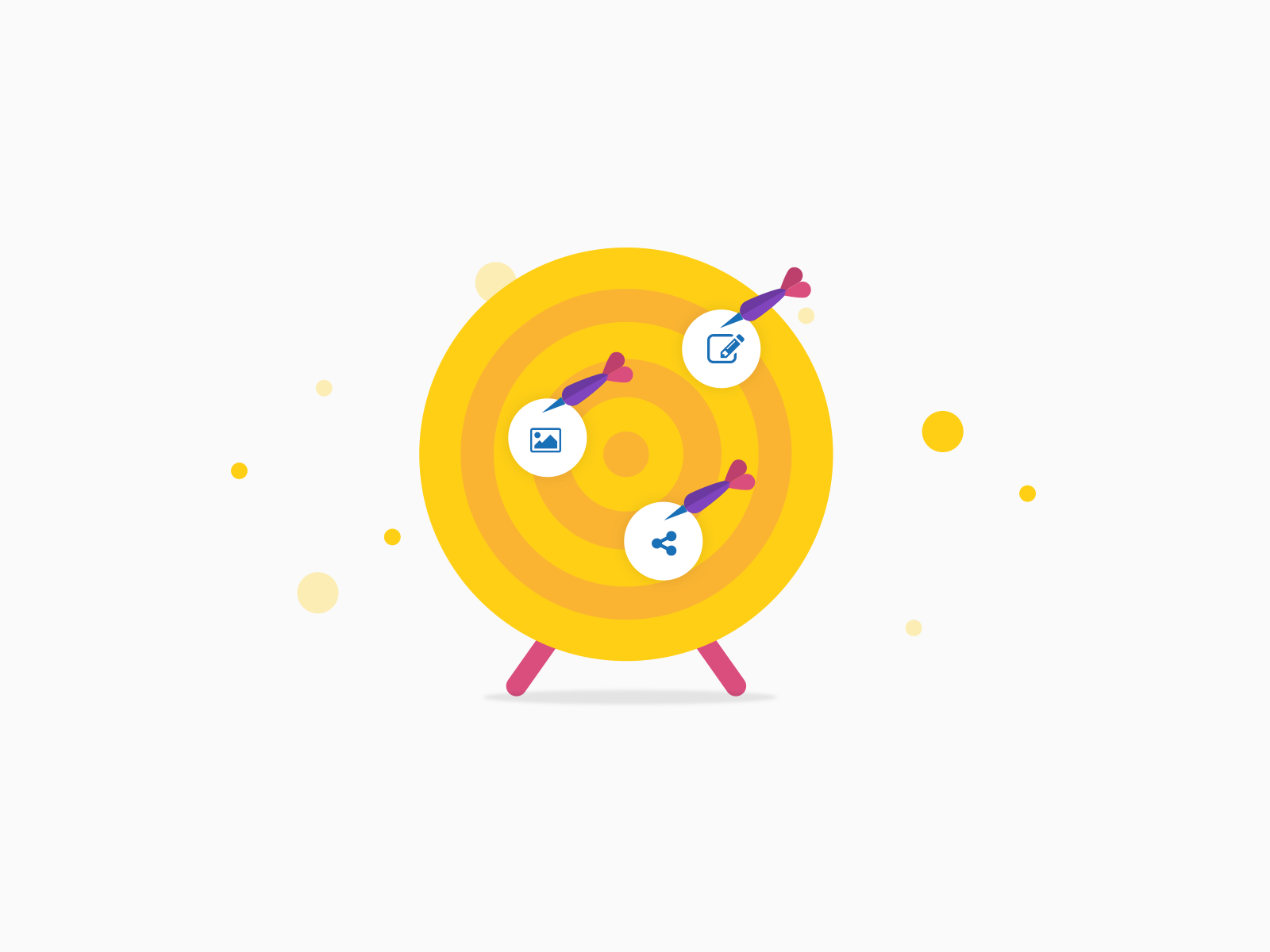 Vector illustrations for Digital Marketing Services, by Chiara Mensa, made with Clue Design