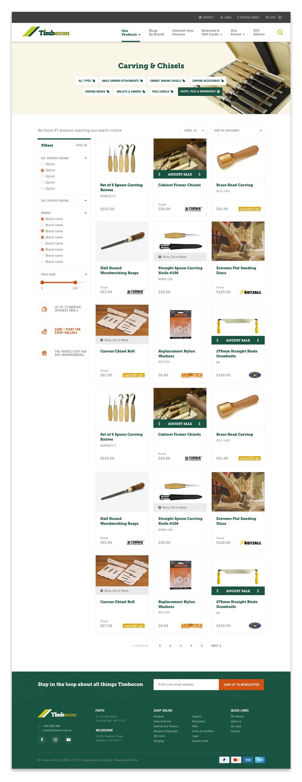 e-commerce Timbecon UI UX design woodworking