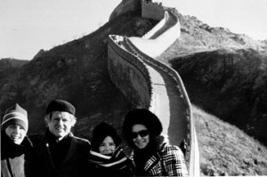 Ted Kennedy and his family visit China in December 1977