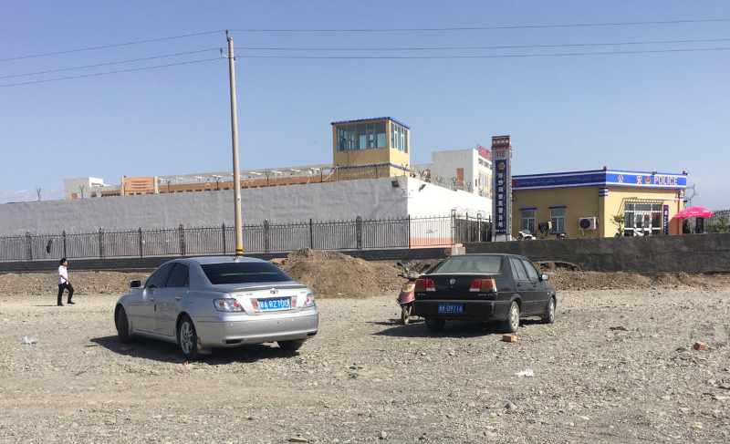 The outside of a newly built internment camp in Turpan, Xinjiang. Picture by Wall Street Journal reporter  Josh Chin .