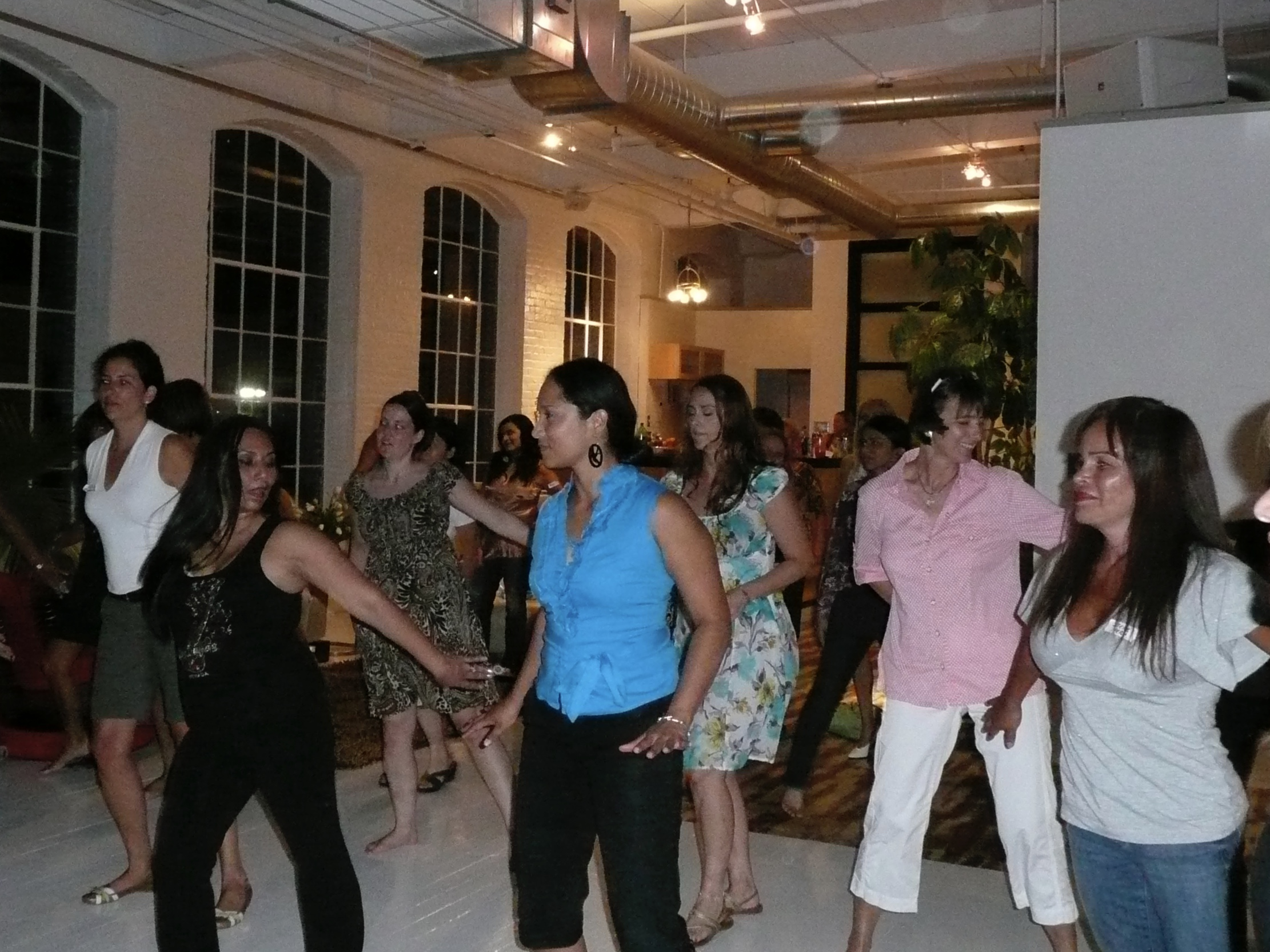Dancing Zumba with the International Girls Night Out Group in Greensboro. Missing the girls tons.