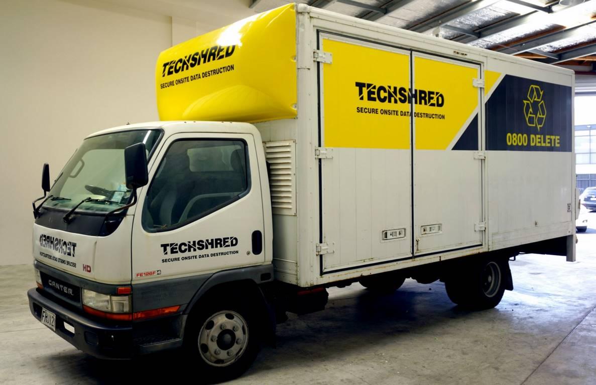 Techshread truck wrap