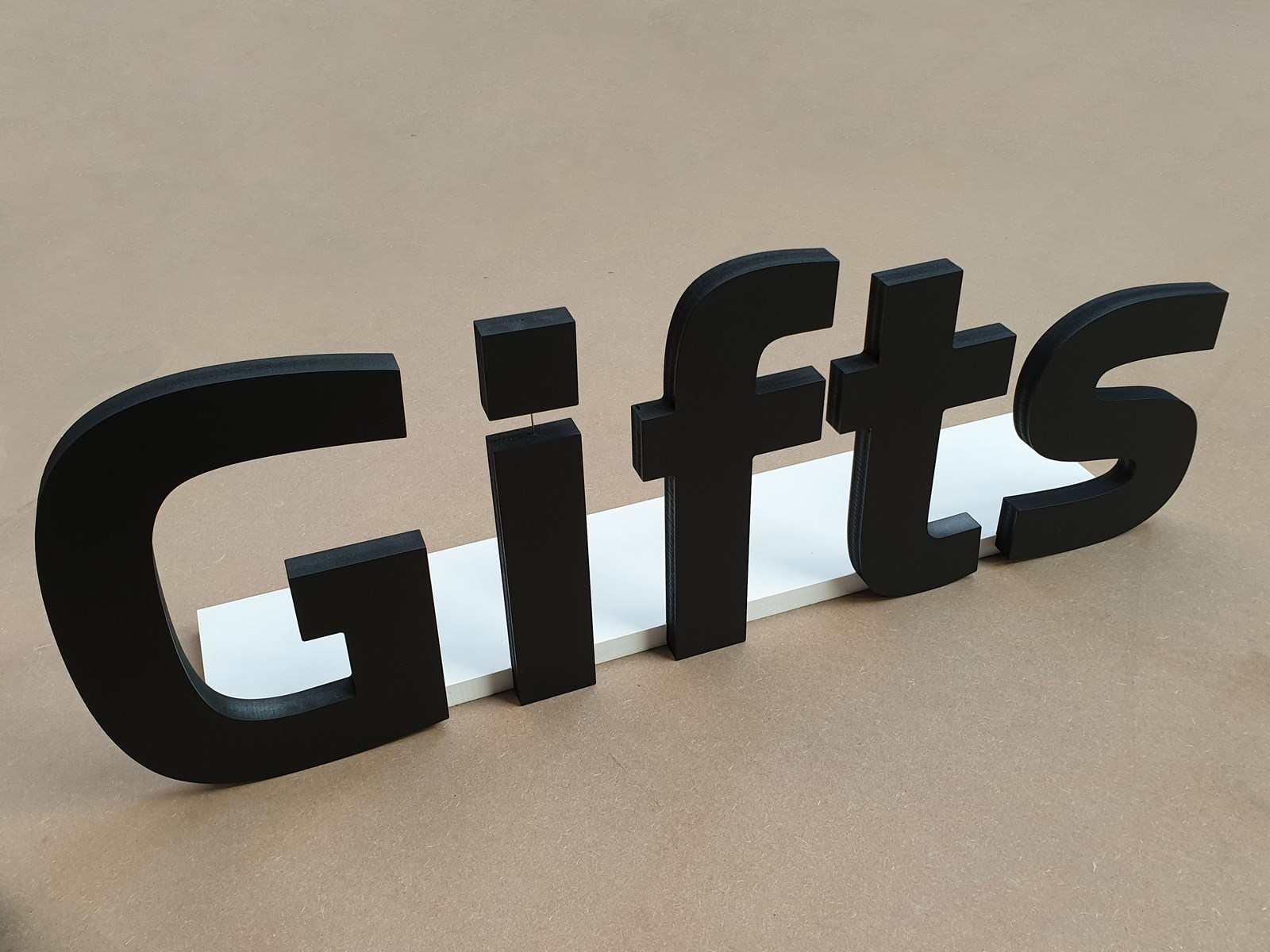 3d CNC routed gifts sign