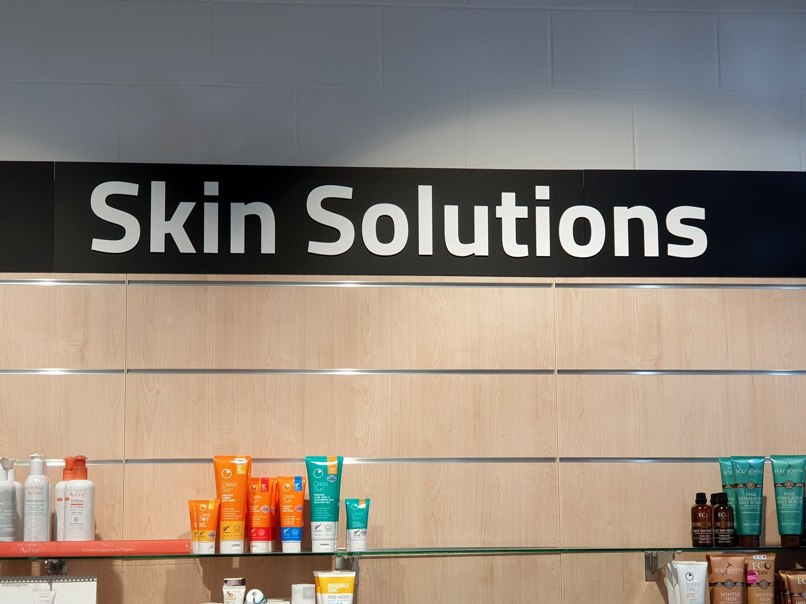 Skin solutions  display sign