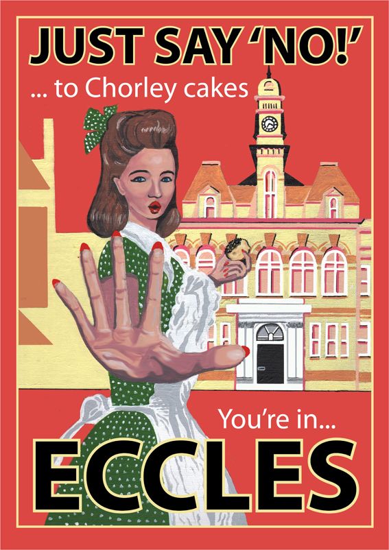 Eccles poster by Eric Jackson, Statement Artworks