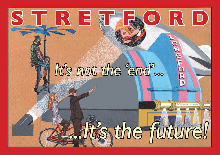 Stretford poster by Eric Jackson, Statement Artworks
