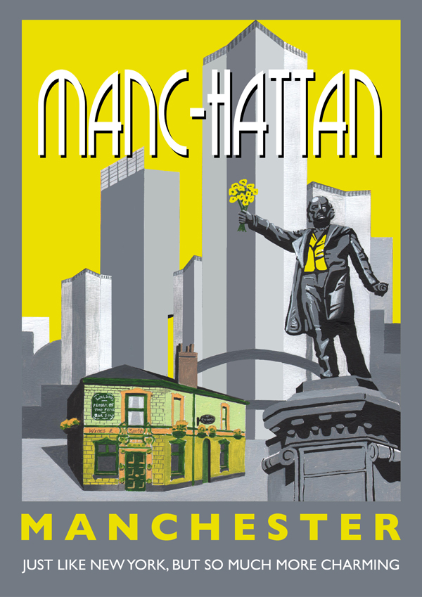 Manc-hattan poster by Statement Artworks