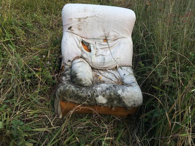 A sad looking couch