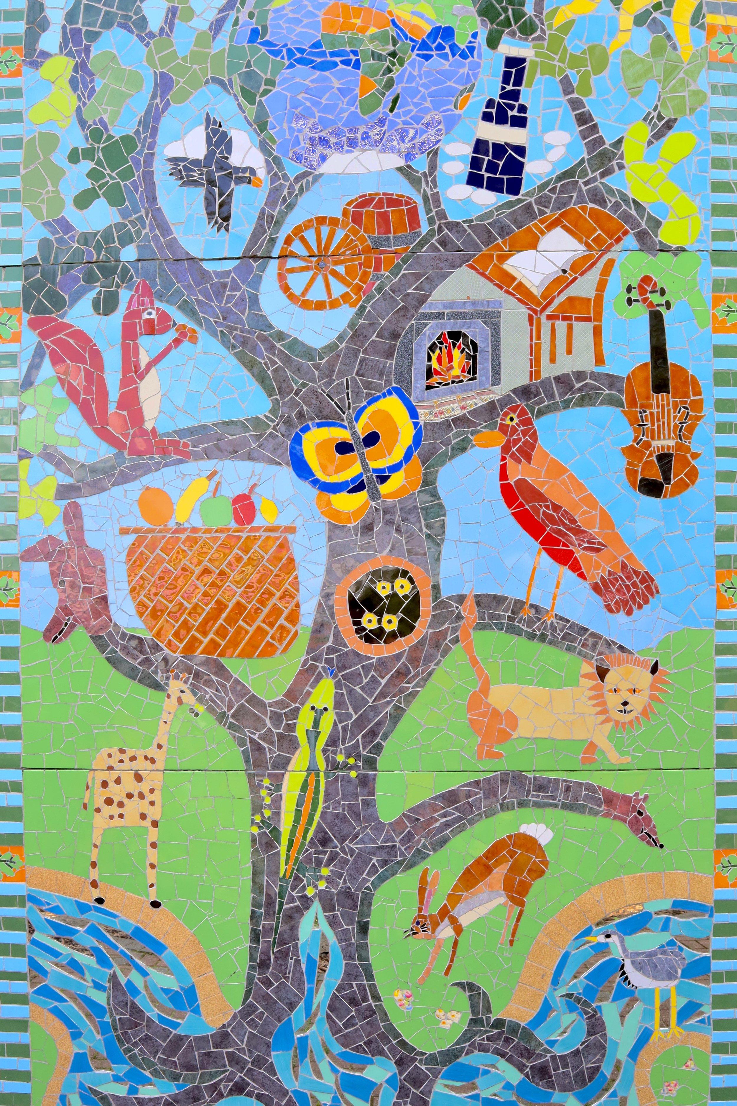 Our garden mural