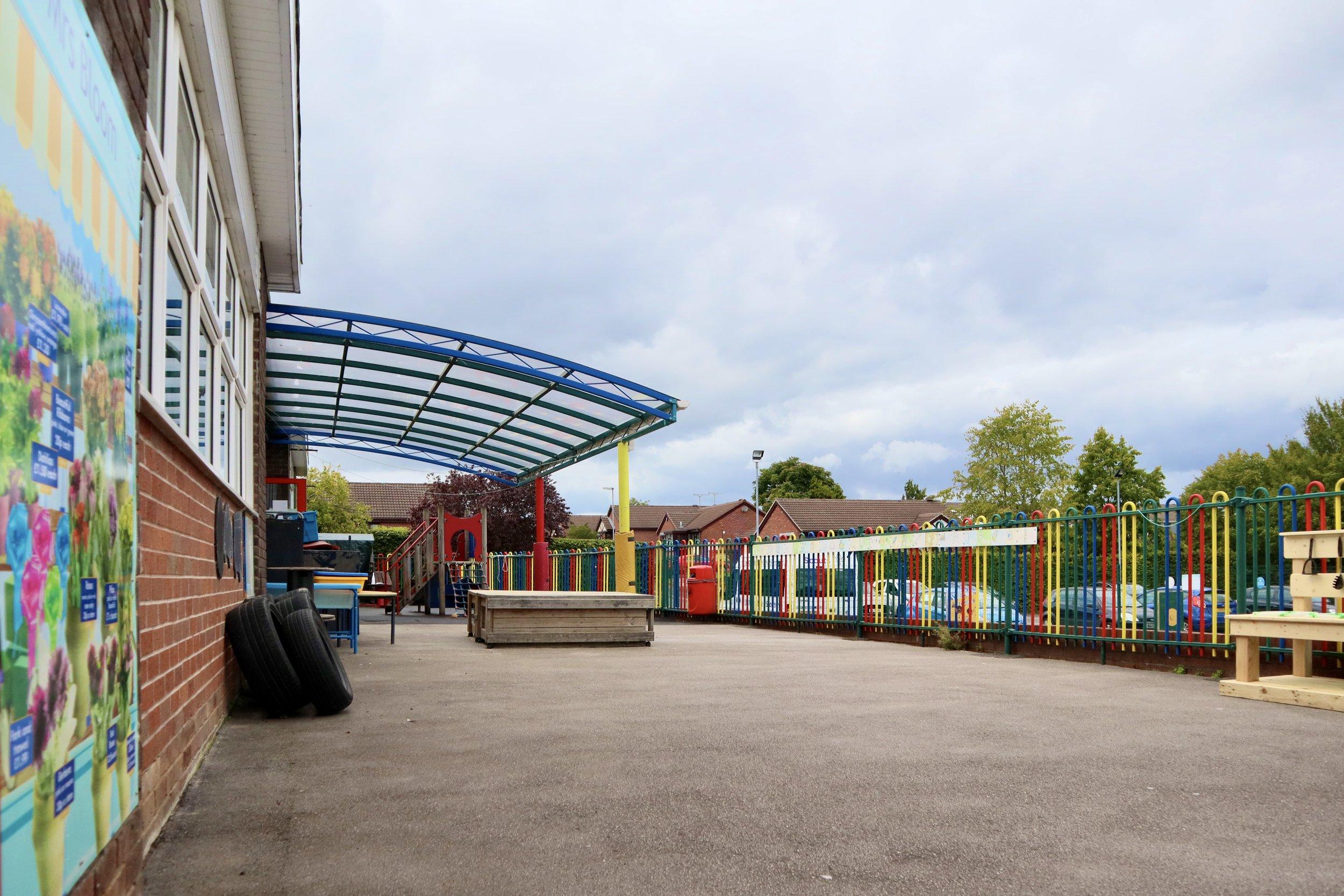 Reception class outdoor area