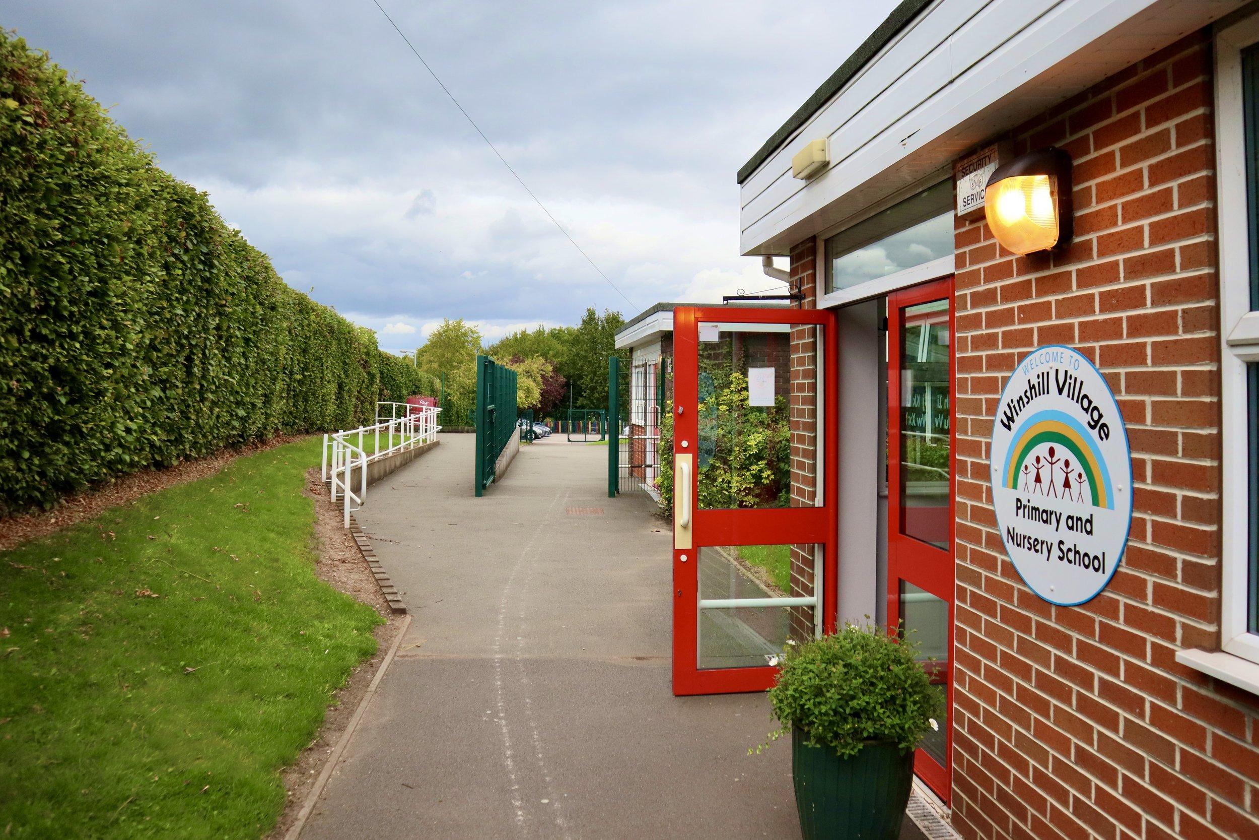 The main school entrance